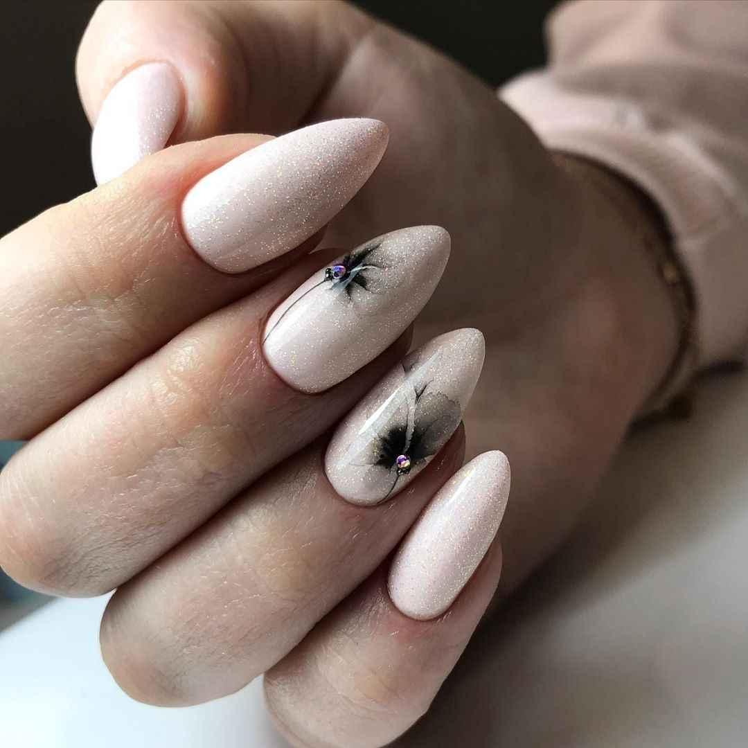 Акварельные капли на ногтях фото_50