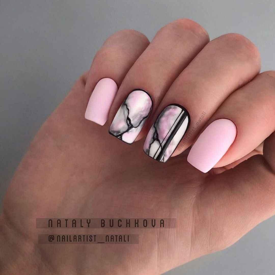 Акварельные капли на ногтях фото_29