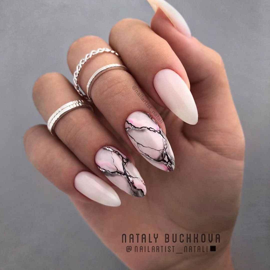 Акварельные капли на ногтях фото_27