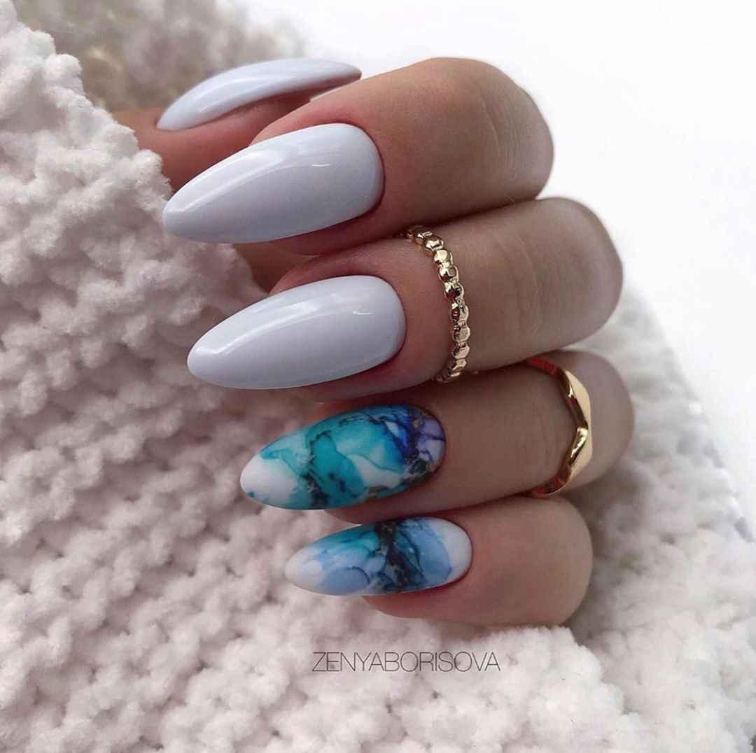 Акварельные капли на ногтях фото_26