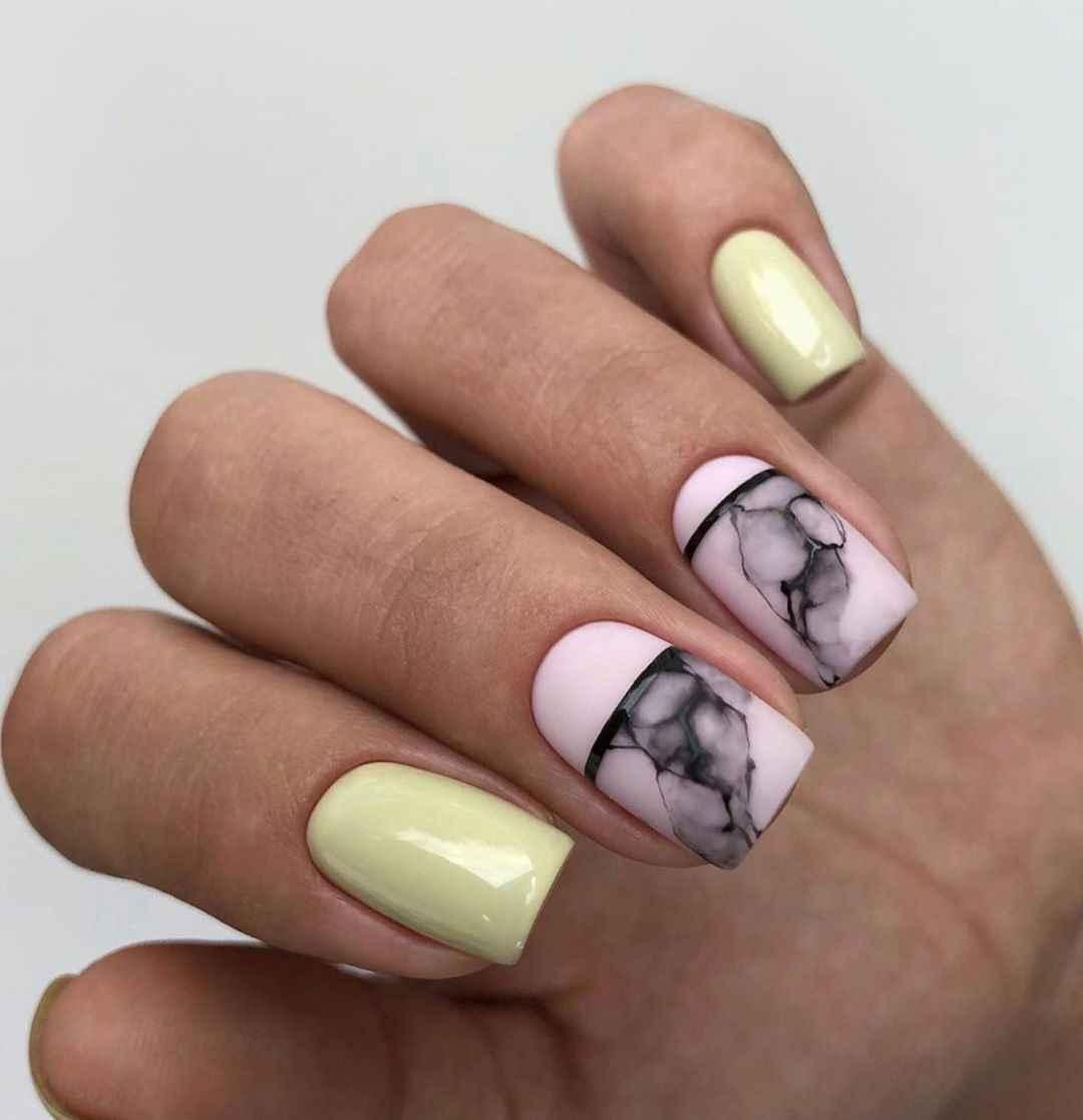 Акварельные капли на ногтях фото_22