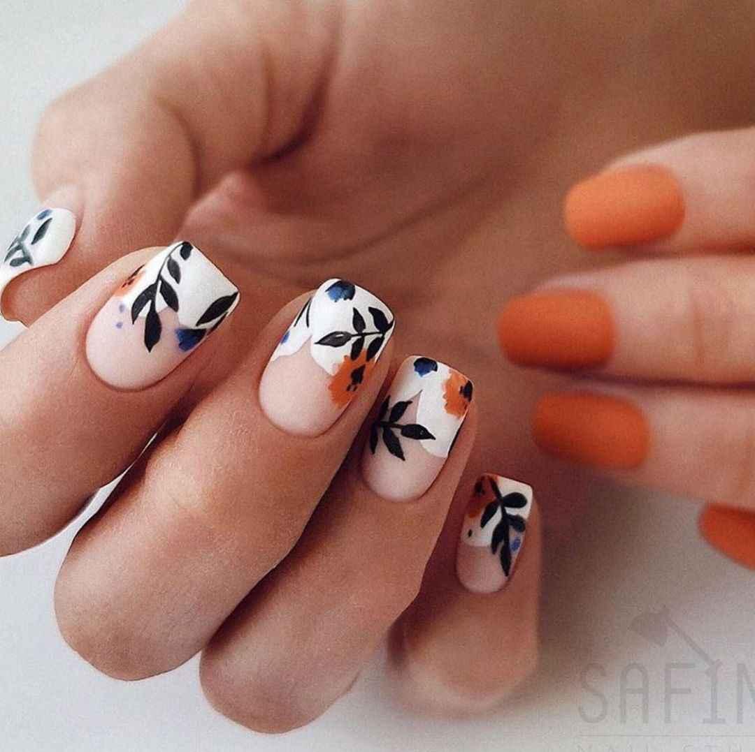 Акварельные капли на ногтях фото_21