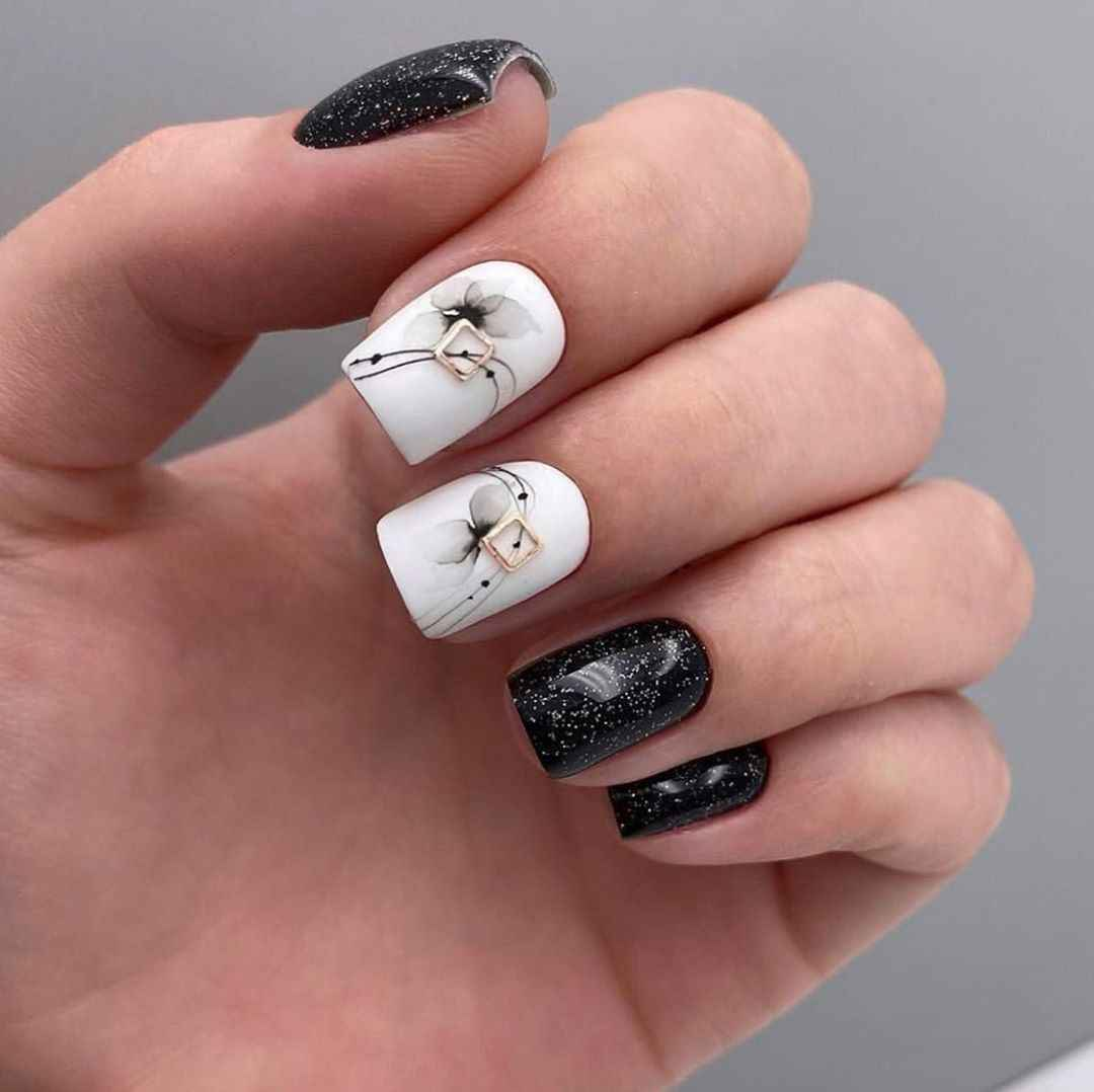 Акварельные капли на ногтях фото_20