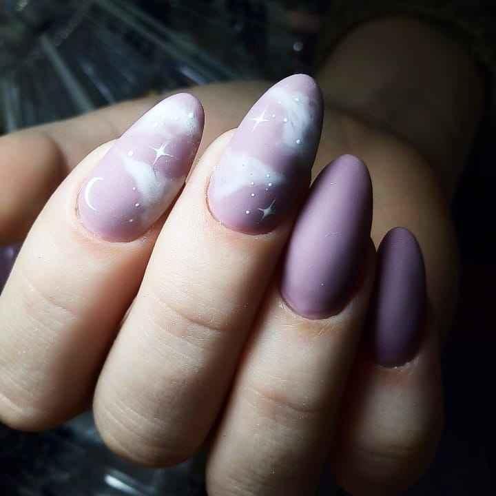 Акварельные капли на ногтях фото_52