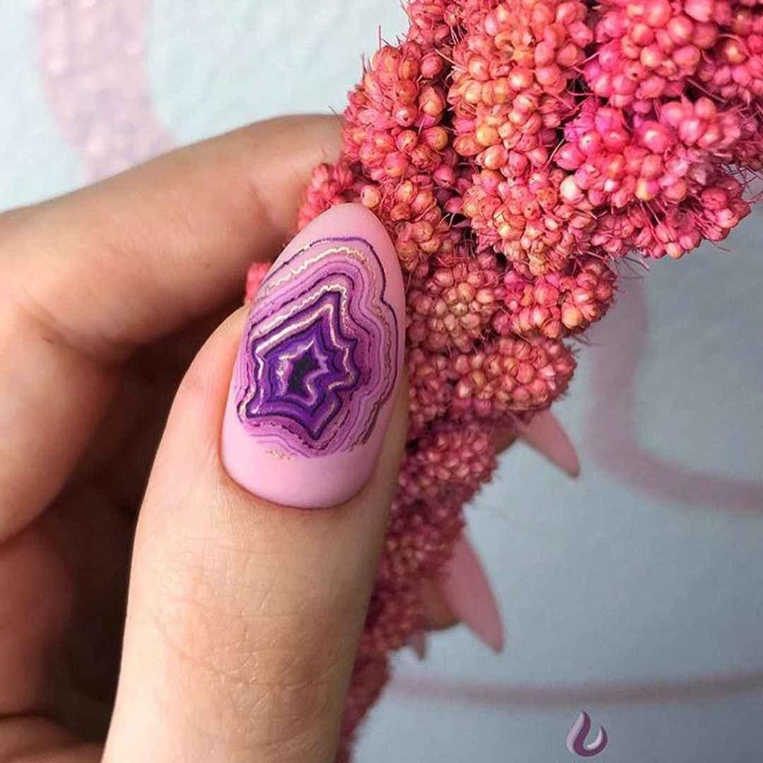 Акварельные капли на ногтях фото_12