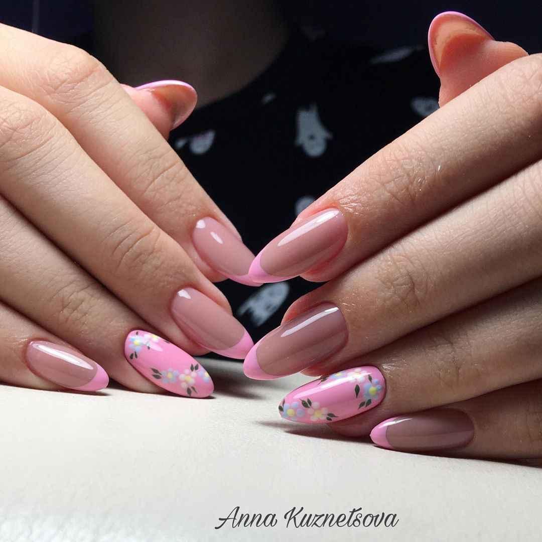Красивый розовый френч с рисунком фото_6