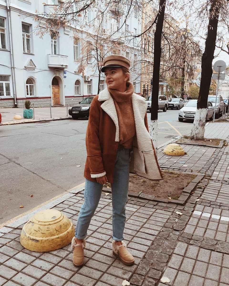 Зимние луки 2019-2020 для женщин фото_57