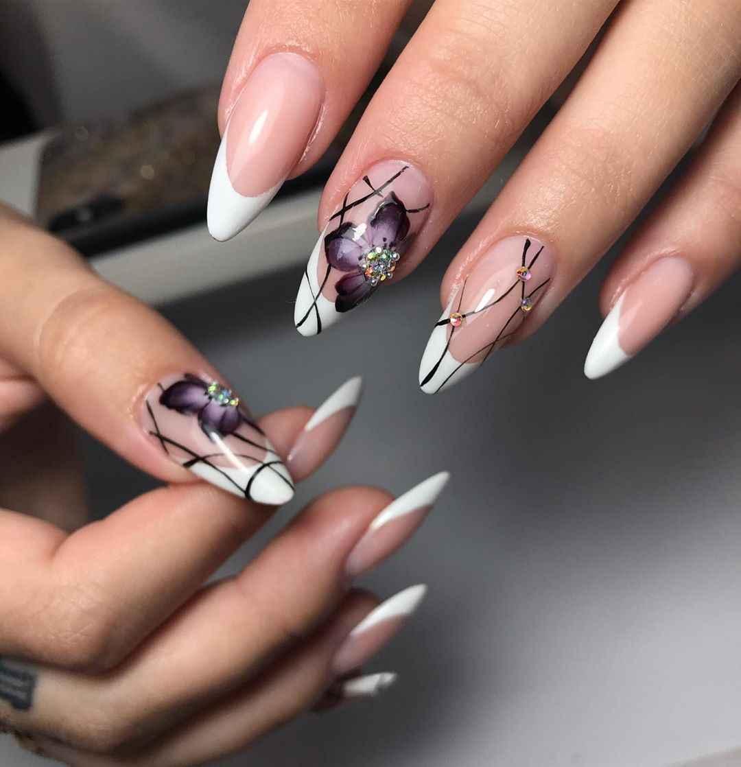 Акварельные капли на ногтях фото_11