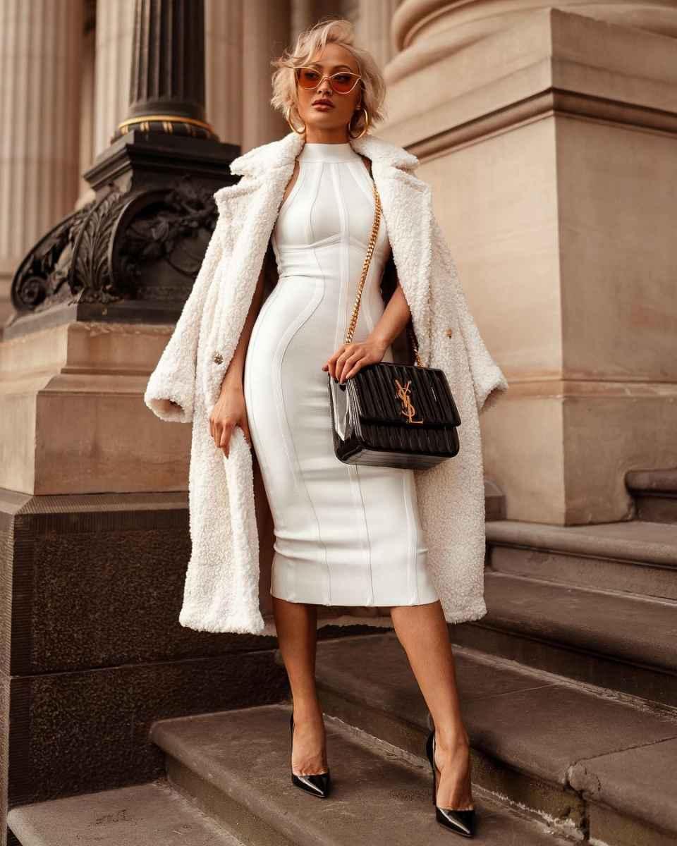 Красивые белые новогодние платья 2020 фото_15