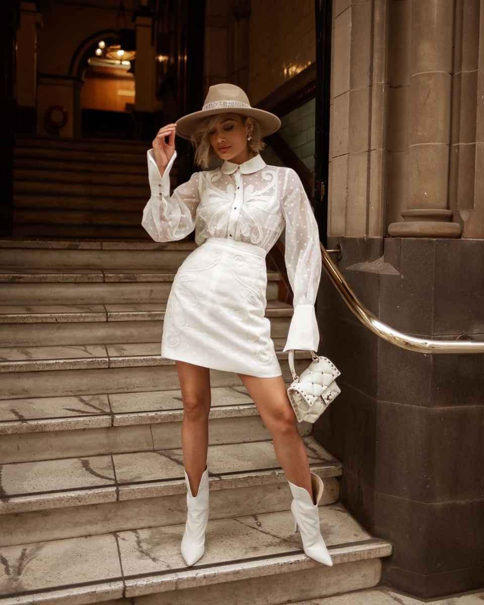 Красивые белые новогодние платья 2020 фото_4