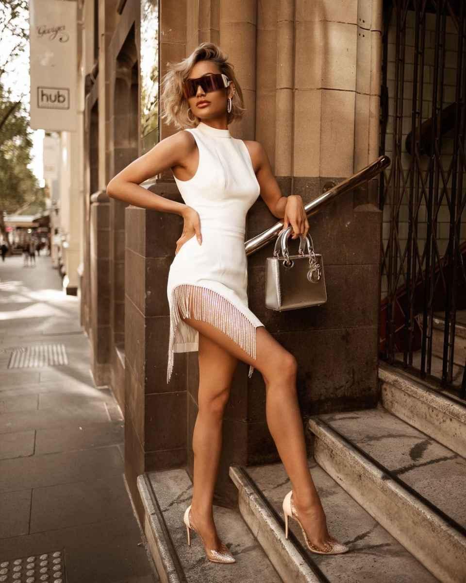 Красивые белые новогодние платья 2020 фото_2