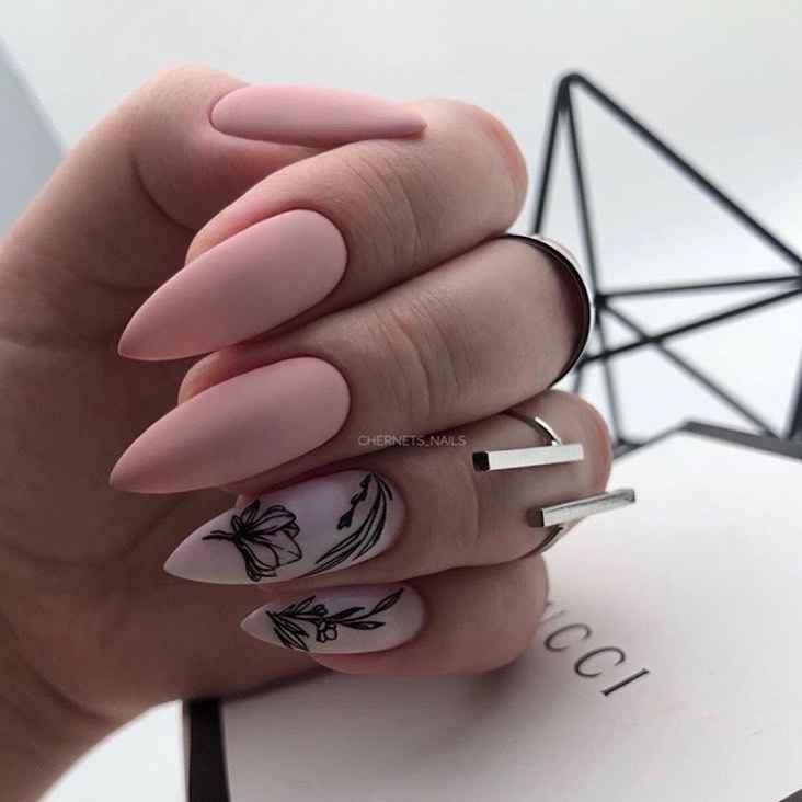 идеи зимнего дизайна ногтей 2020 фото_7