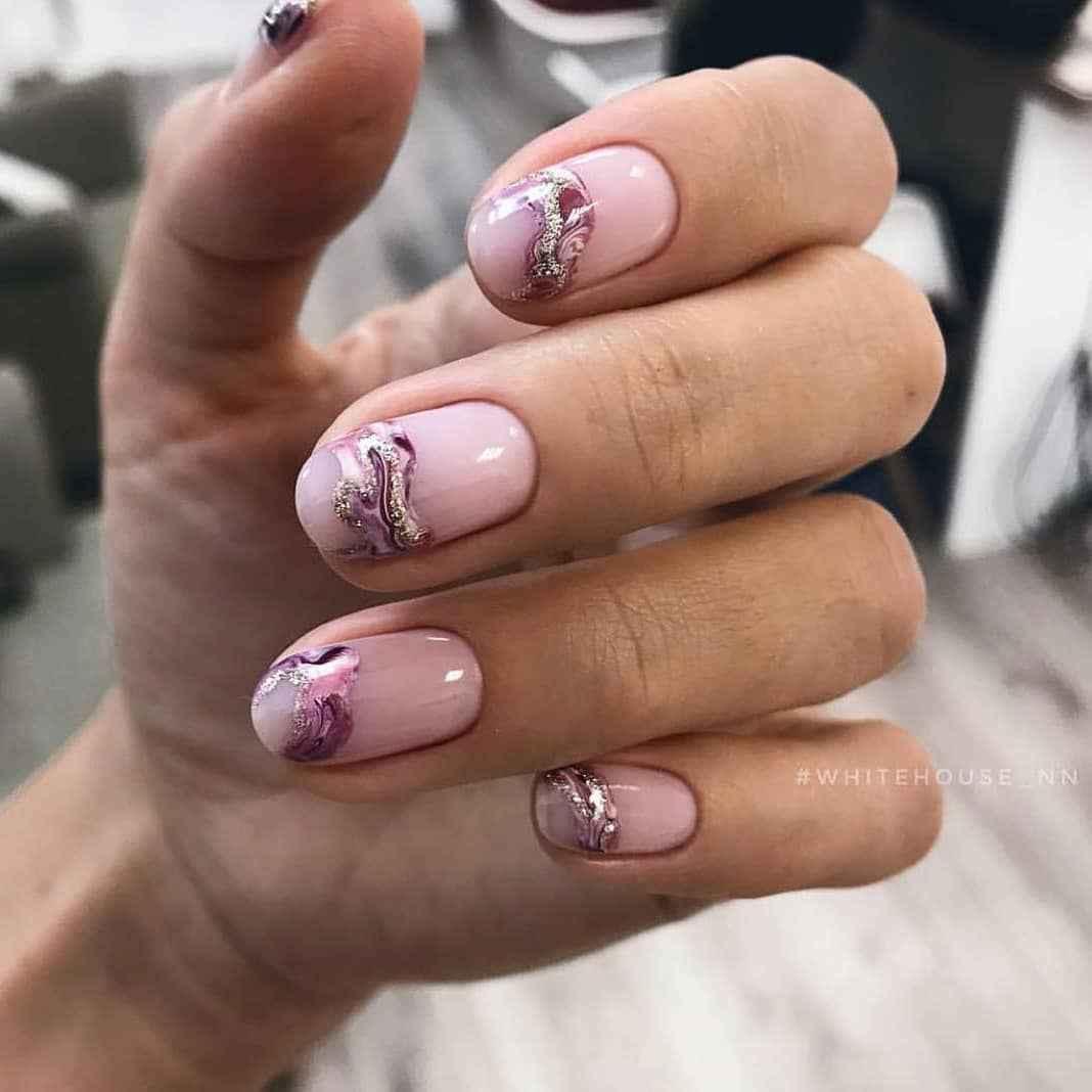 Акварельные капли на ногтях фото_4