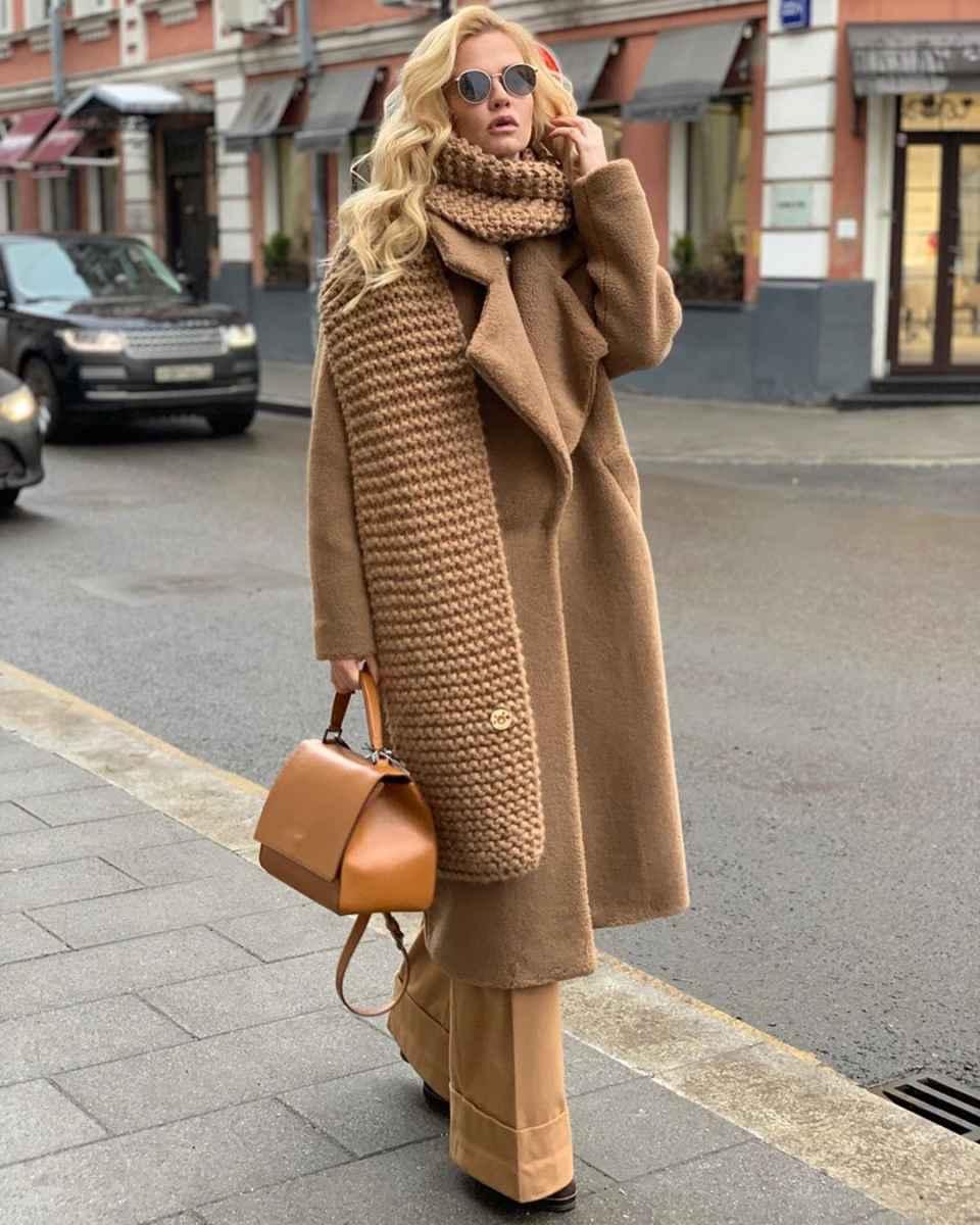 как носить шарф зимой фото_3