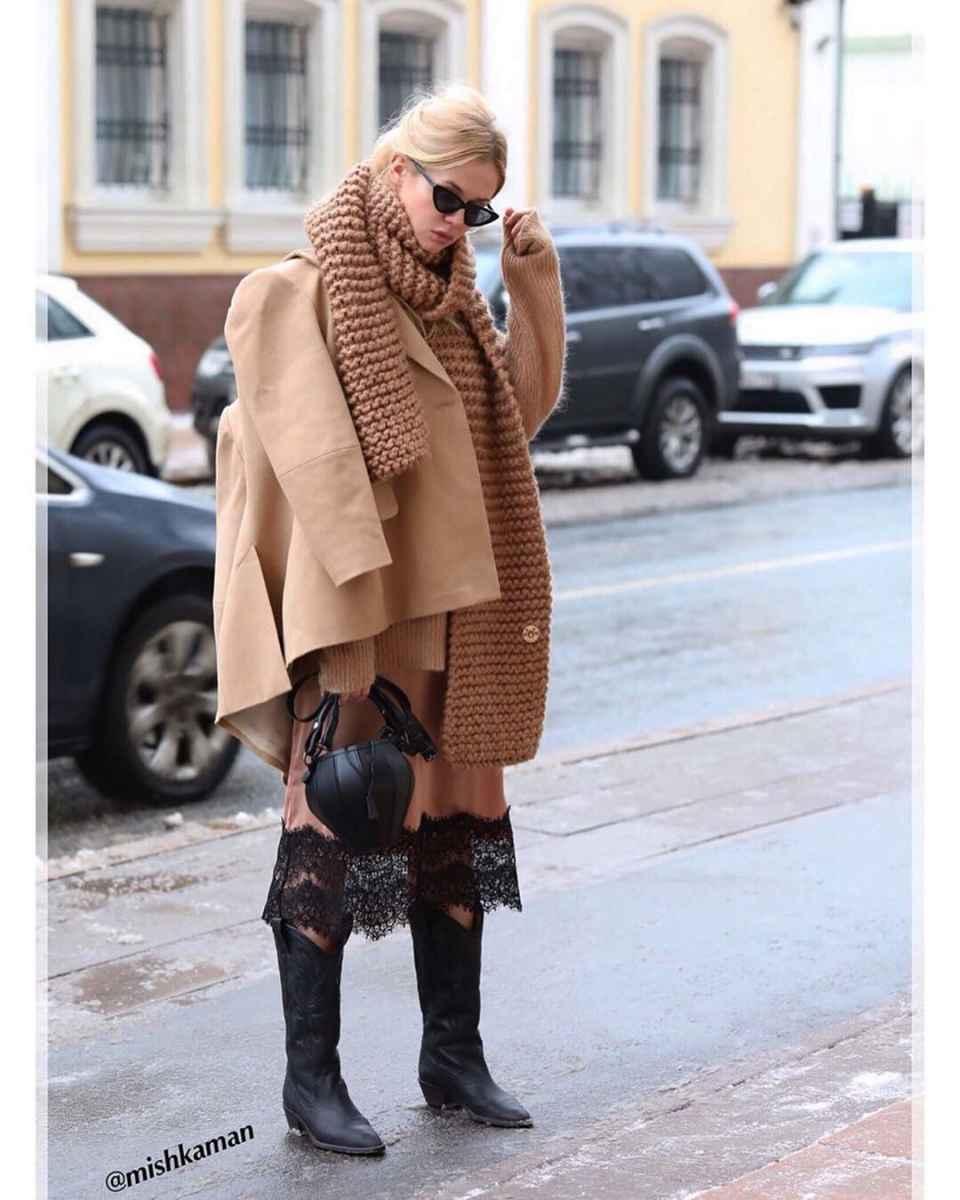 как носить шарф зимой фото_5