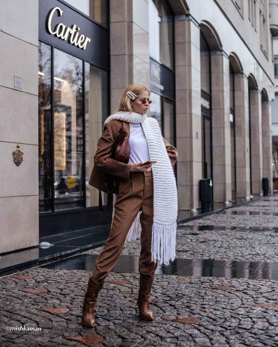 как носить шарф зимой фото_6