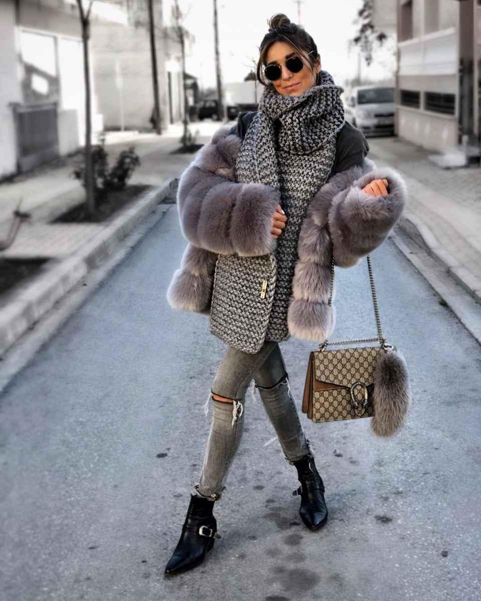 как носить шарф зимой фото_7