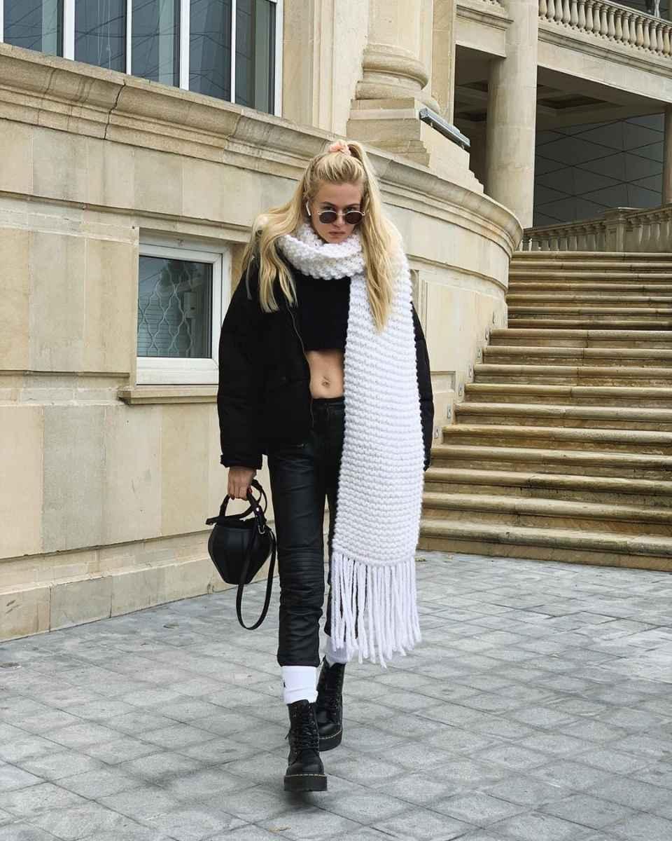 как носить шарф зимой фото_9