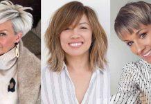 стрижки, которые подходят тонким волосам возрастных женщин фото идеи