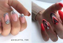 треугольный френч на ногтях фото идеи