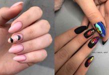 Маникюр с лицами на ногтях 2020 фото идеи