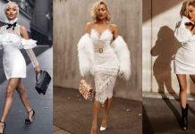 Красивые белые новогодние платья 2020 фото идеи