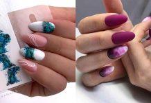Акварельные капли на ногтях фото идеи