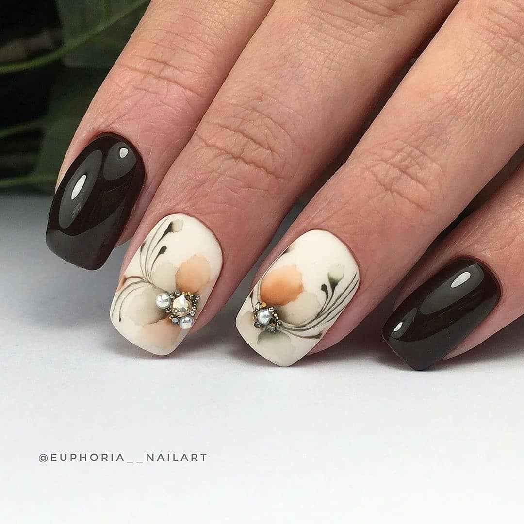 Акварельные капли на ногтях фото_44