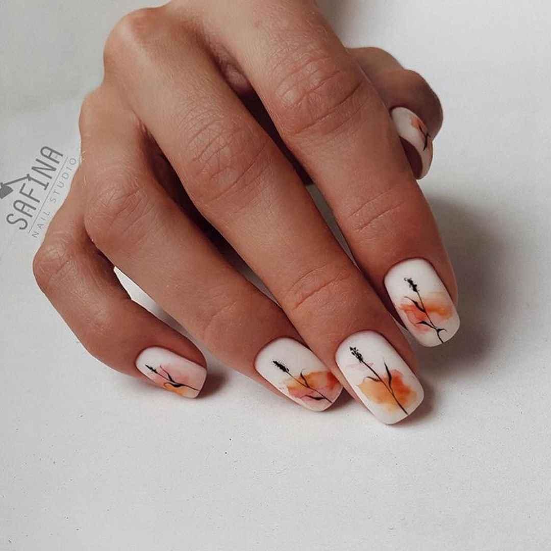 Акварельные капли на ногтях фото_10