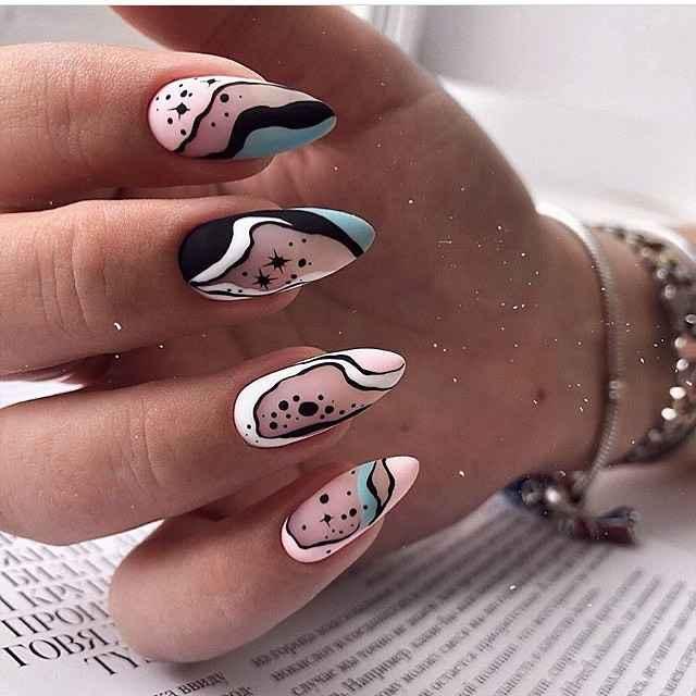 идеи зимнего дизайна ногтей 2020 фото_5