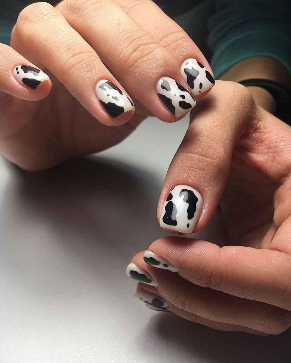 маникюр корова фото_28