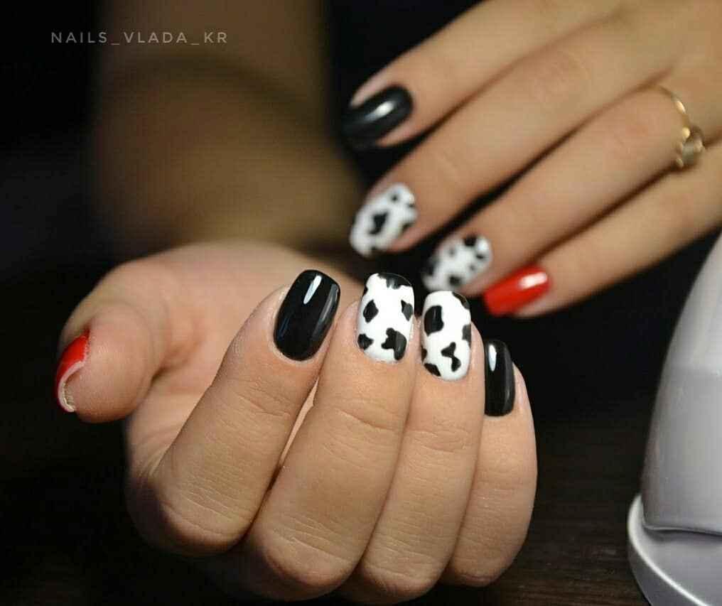 маникюр корова фото_21