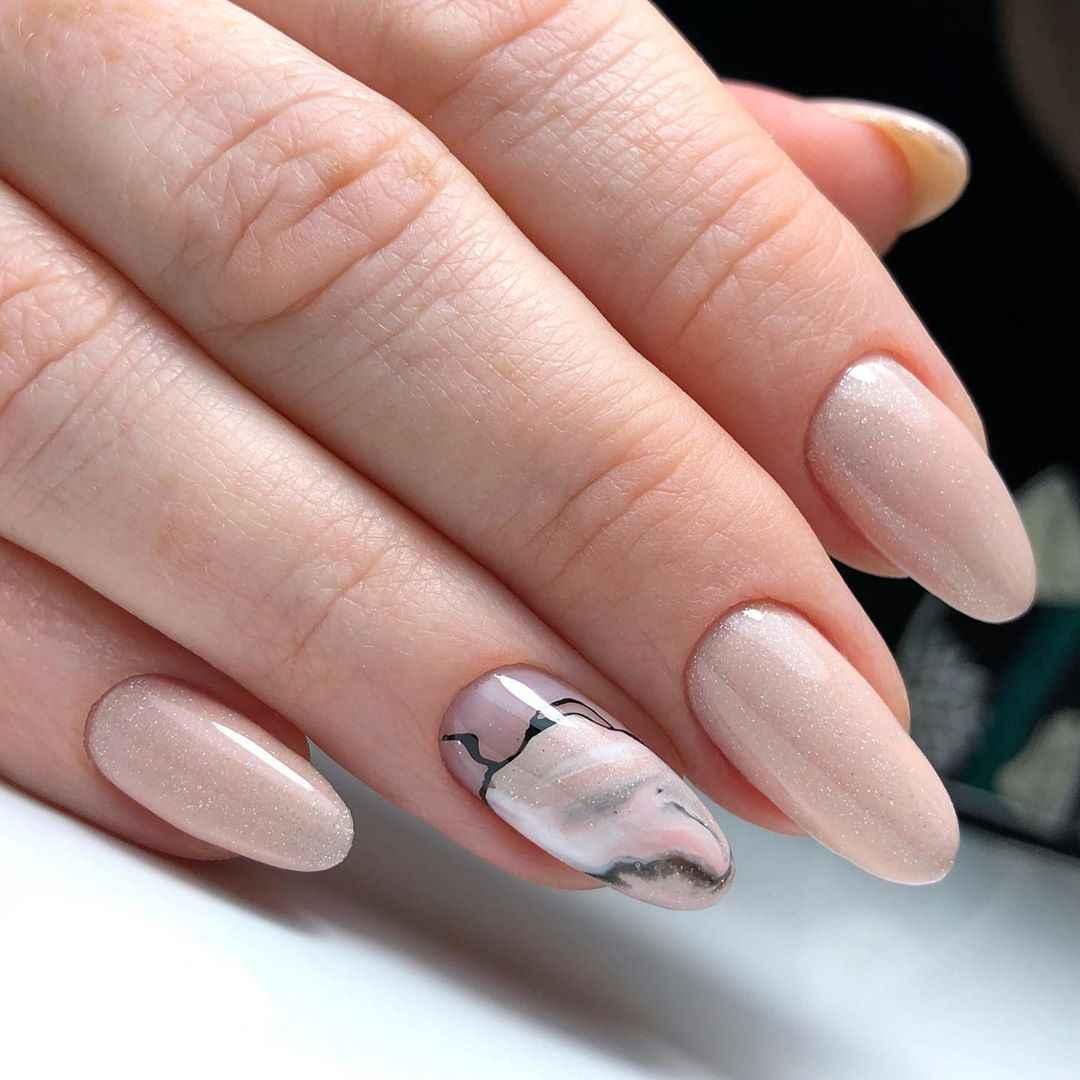 Акварельные капли на ногтях фото_8