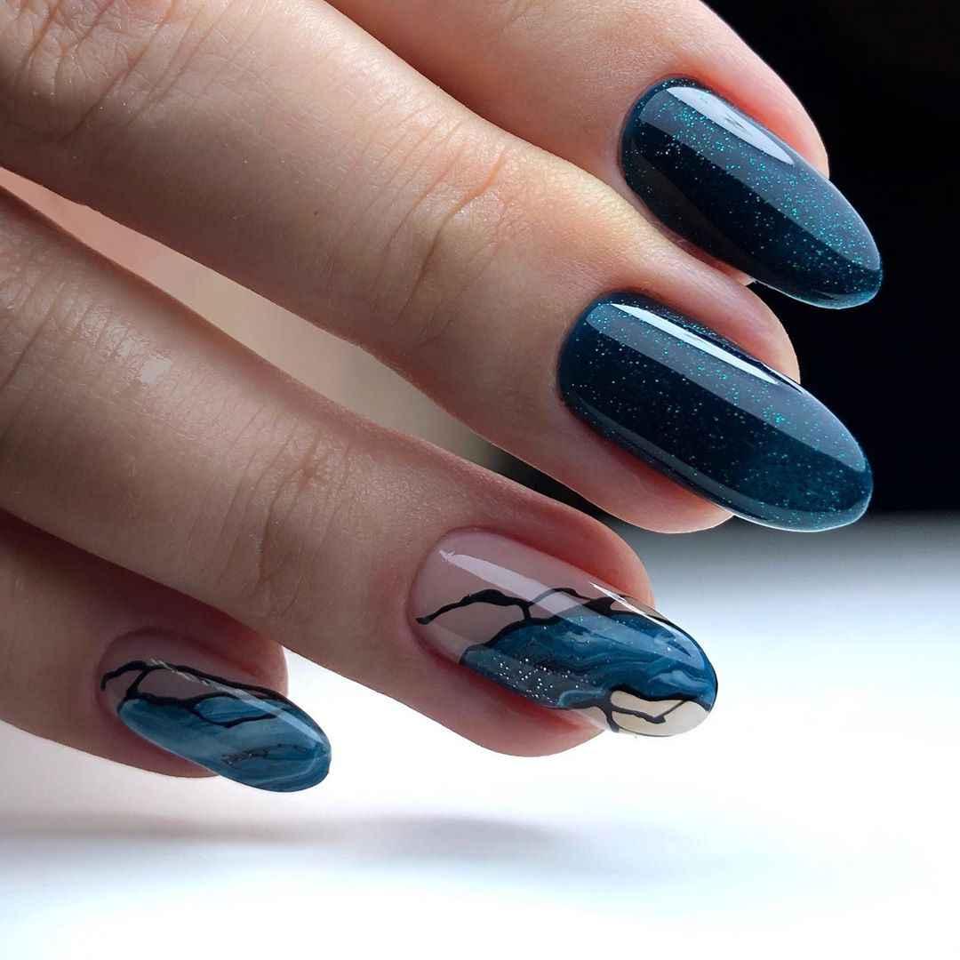 Акварельные капли на ногтях фото_7