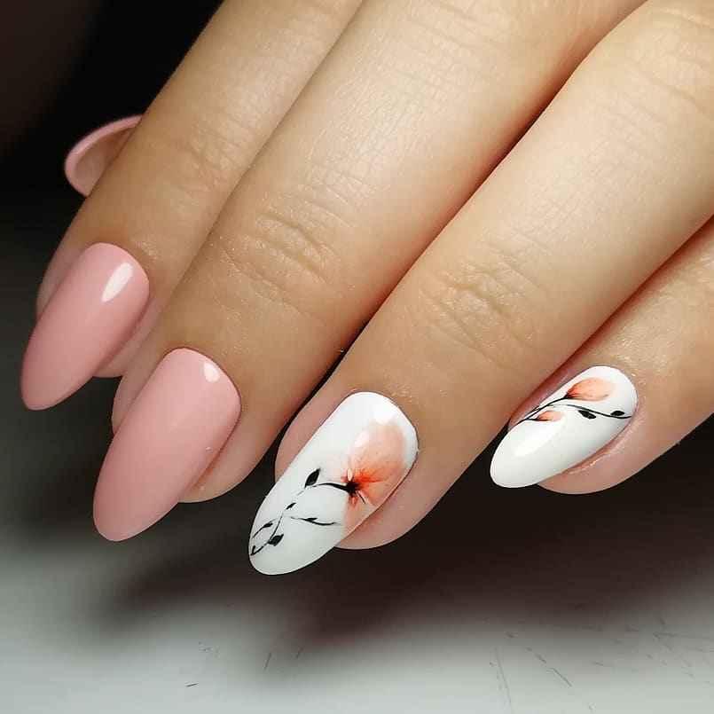 Акварельные капли на ногтях фото_56