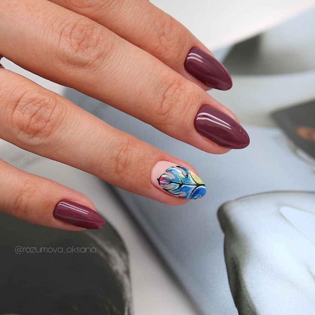 Акварельные капли на ногтях фото_1