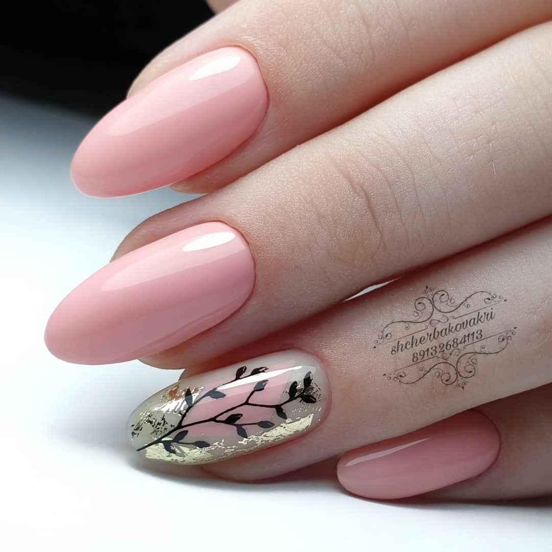 Красивый розовый френч с рисунком фото_9
