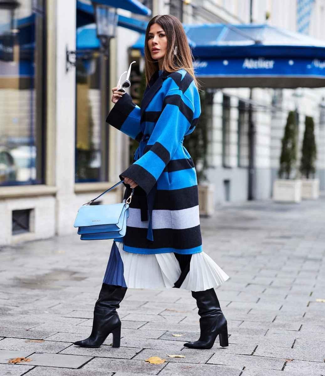 с чем носить темно-синее пальто фото_7