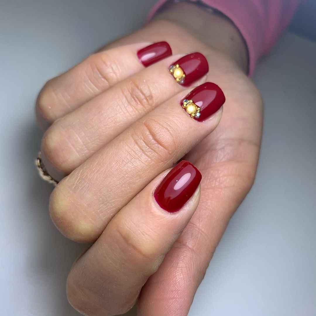 Бордово-золотой френч фото_8
