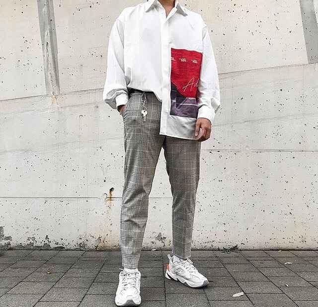 С чем носить брюки в серую клетку мужчине фото_7