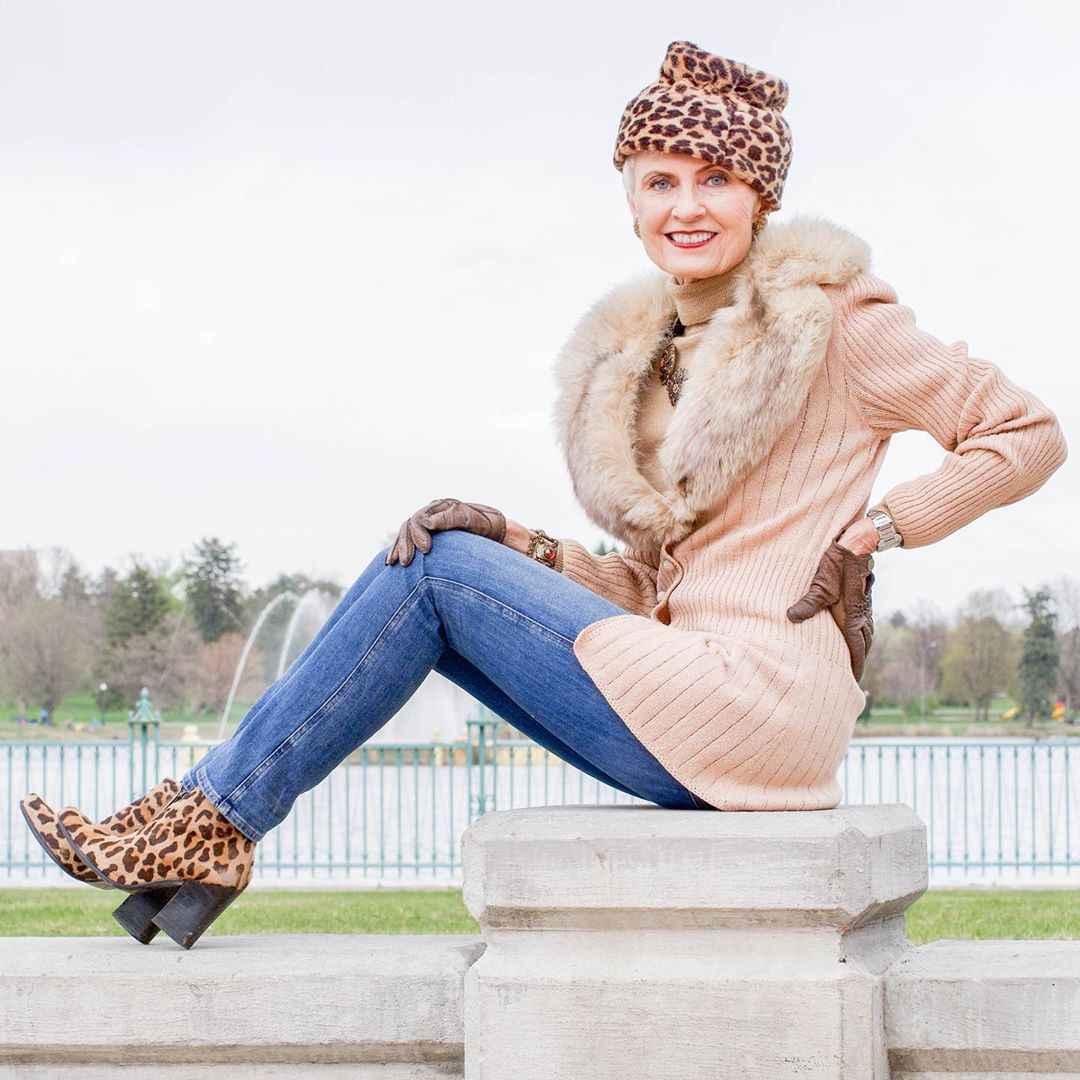 С чем носить леопардовые ботильоны и ботинки фото_15