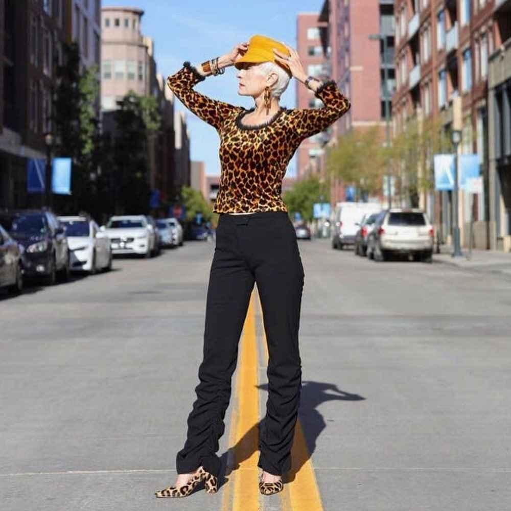 С чем носить леопардовые туфли и балетки фото_3