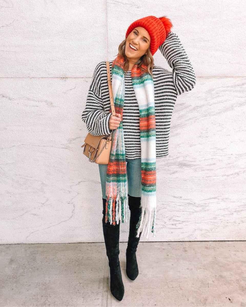 как носить шарф зимой фото_12