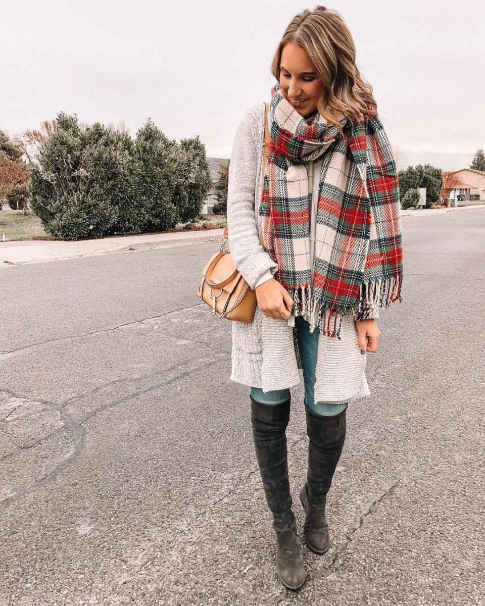 как носить шарф зимой фото_13