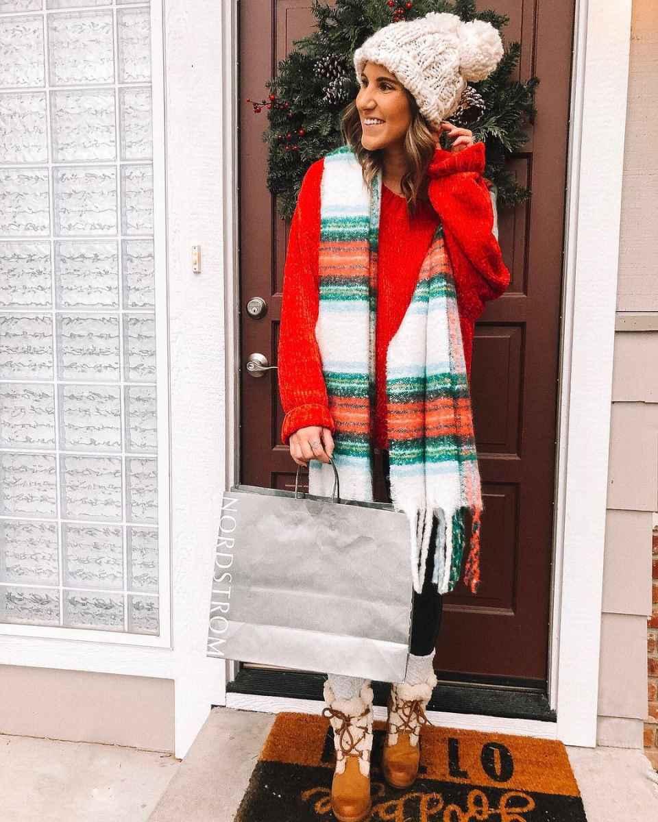 как носить шарф зимой фото_15