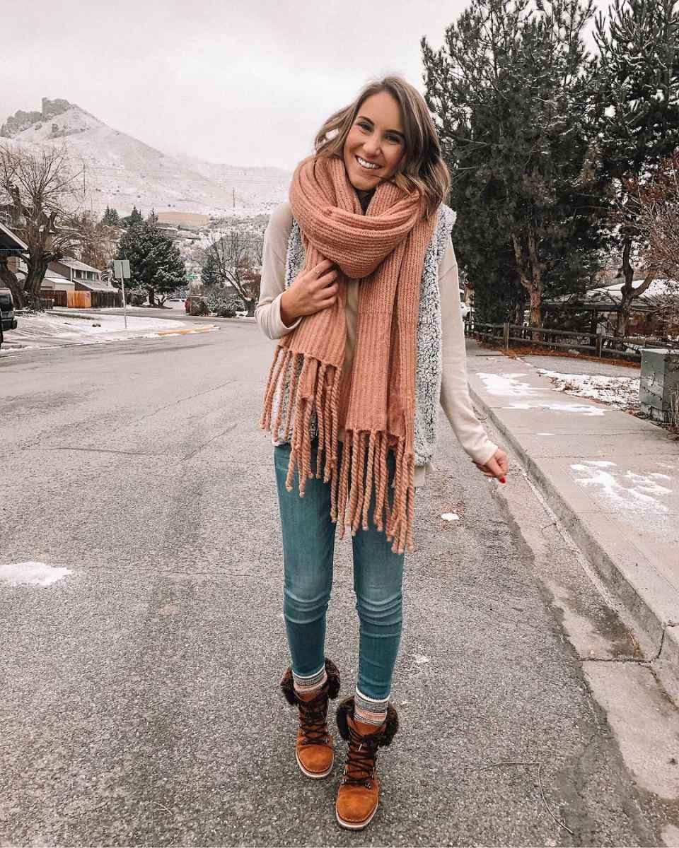 как носить шарф зимой фото_17