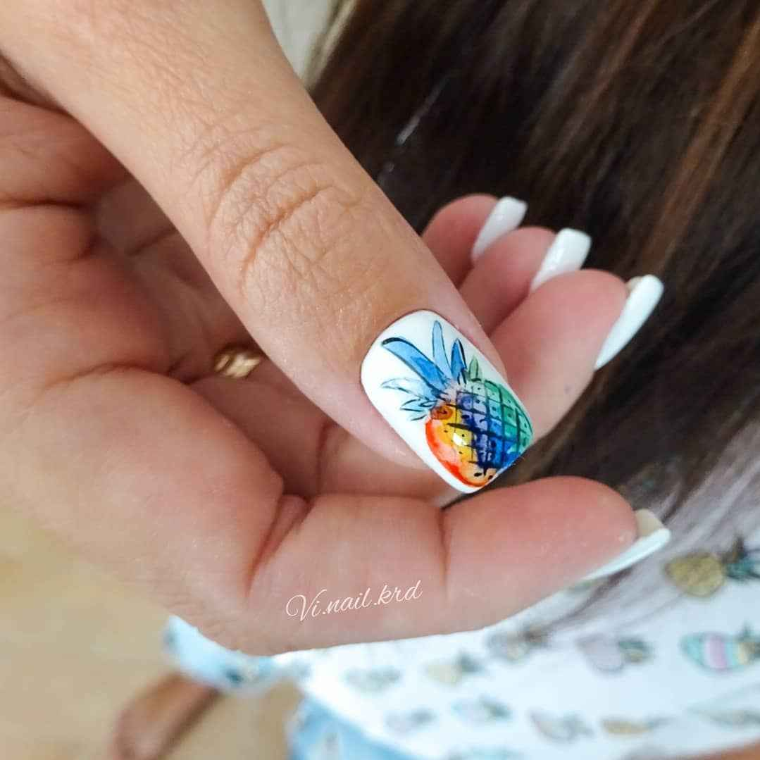 Акварельные капли на ногтях фото_39