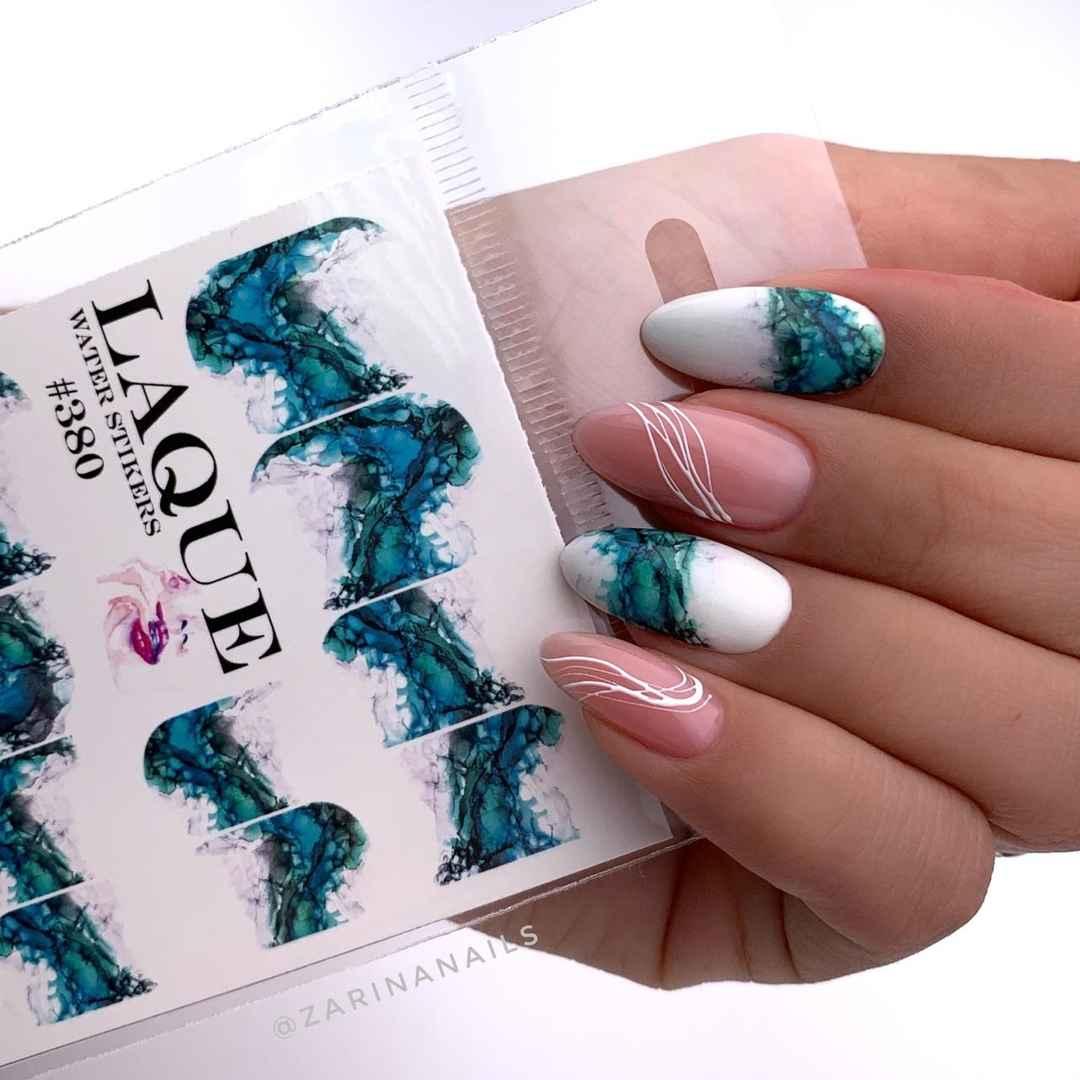 Акварельные капли на ногтях фото_3