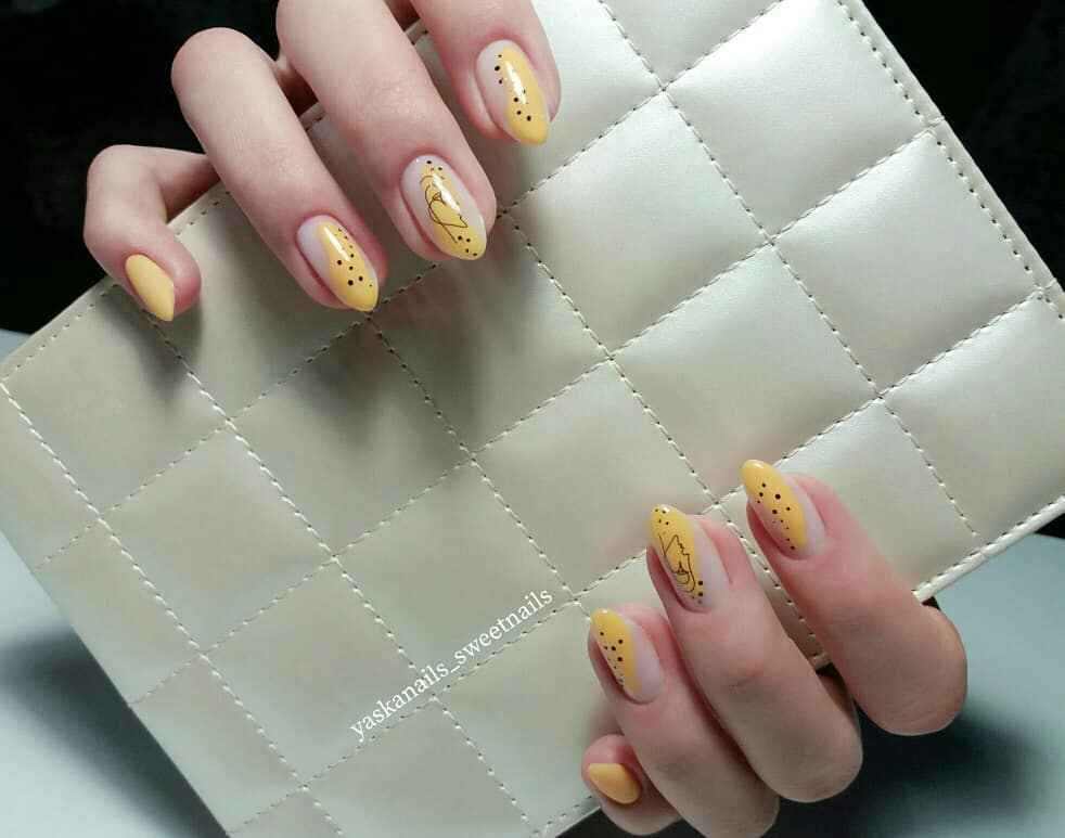 Маникюр с лицами на ногтях фото_3