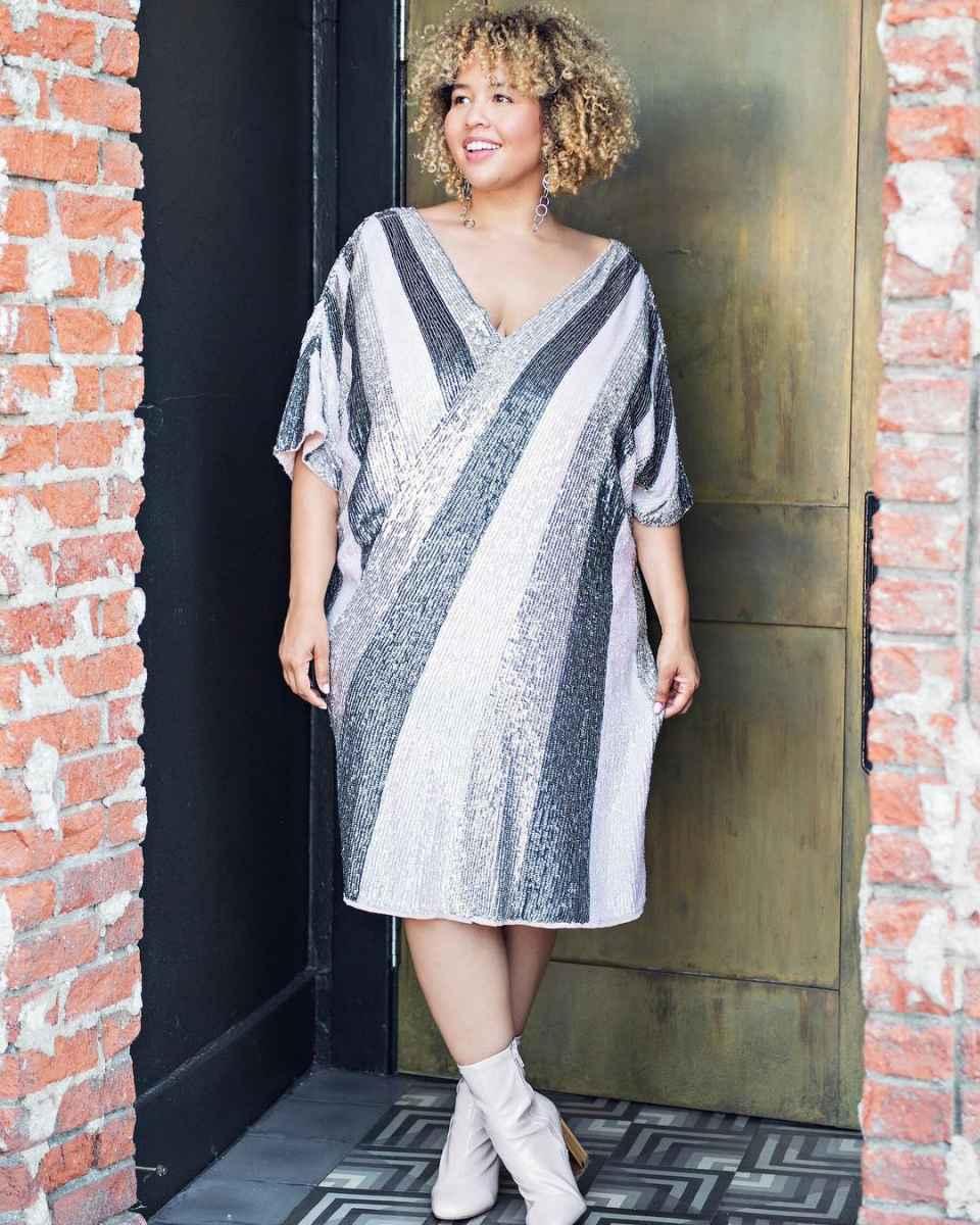 Платья для полных женщин на Новый год 2020 фото_79